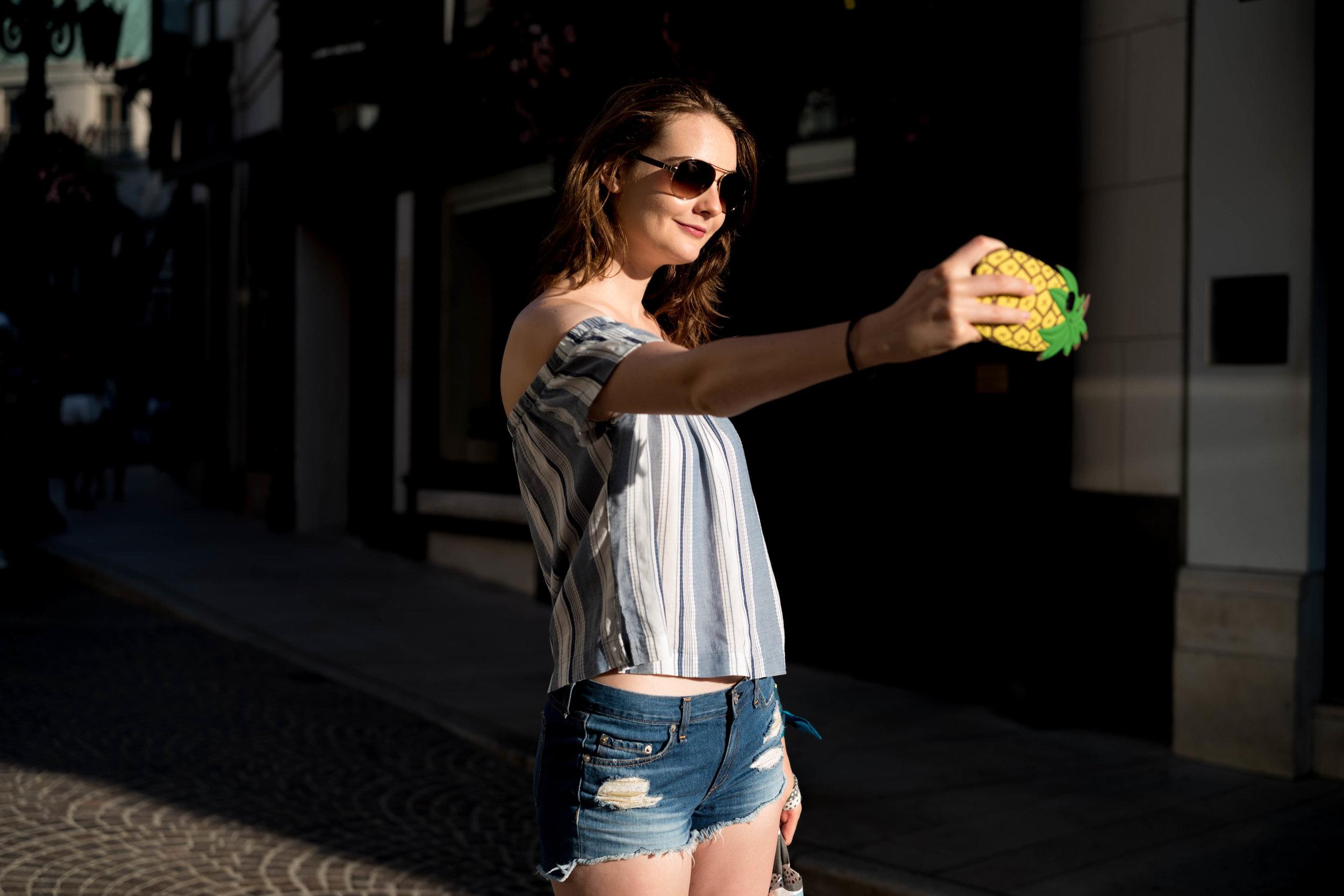 A selfie on Via Rodeo. Leica APO 50mm f/2 Summicron ASPH