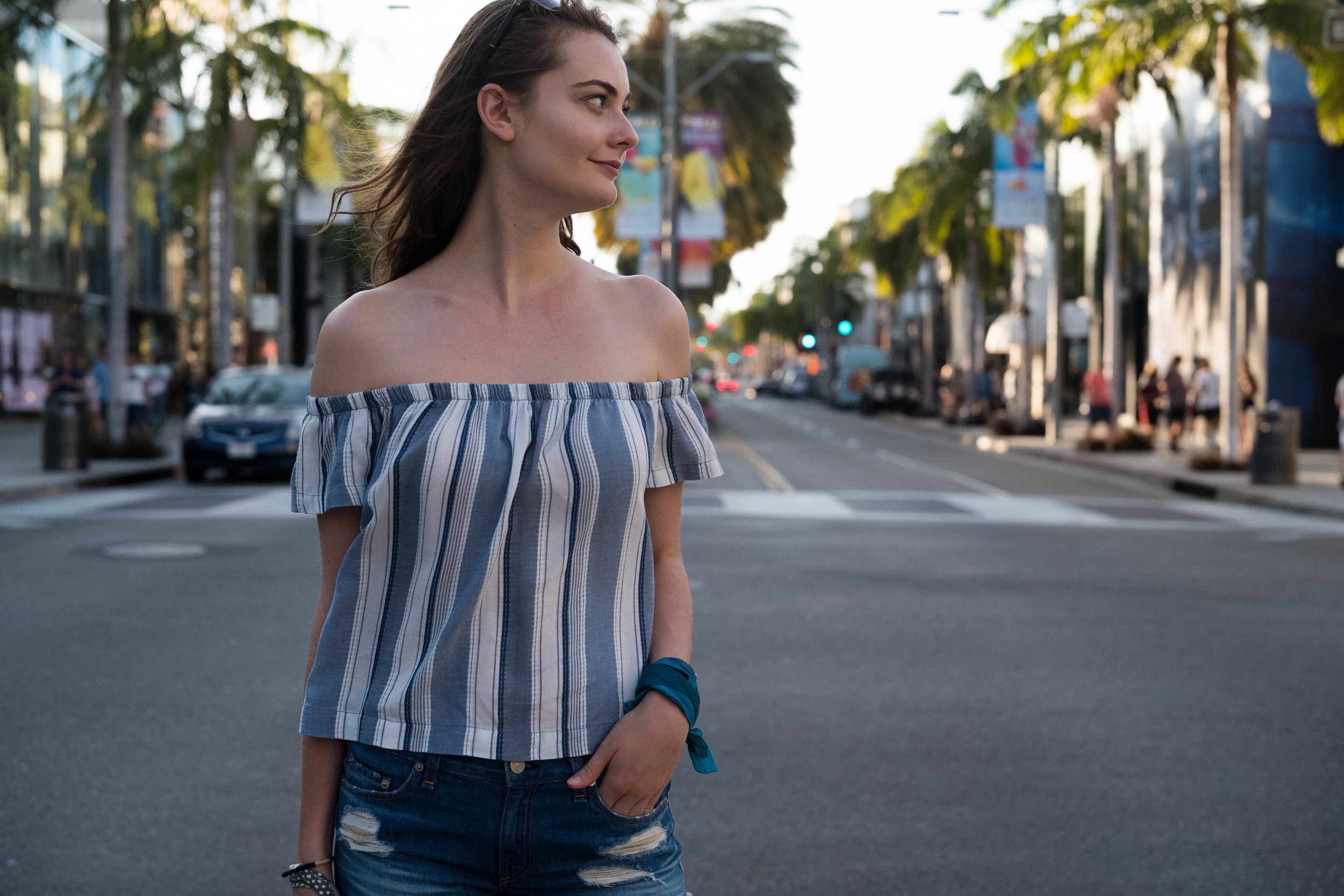 In the middle of the crosswalk on Rodeo Drive. Leica APO 50mm f/2 Summicron ASPH