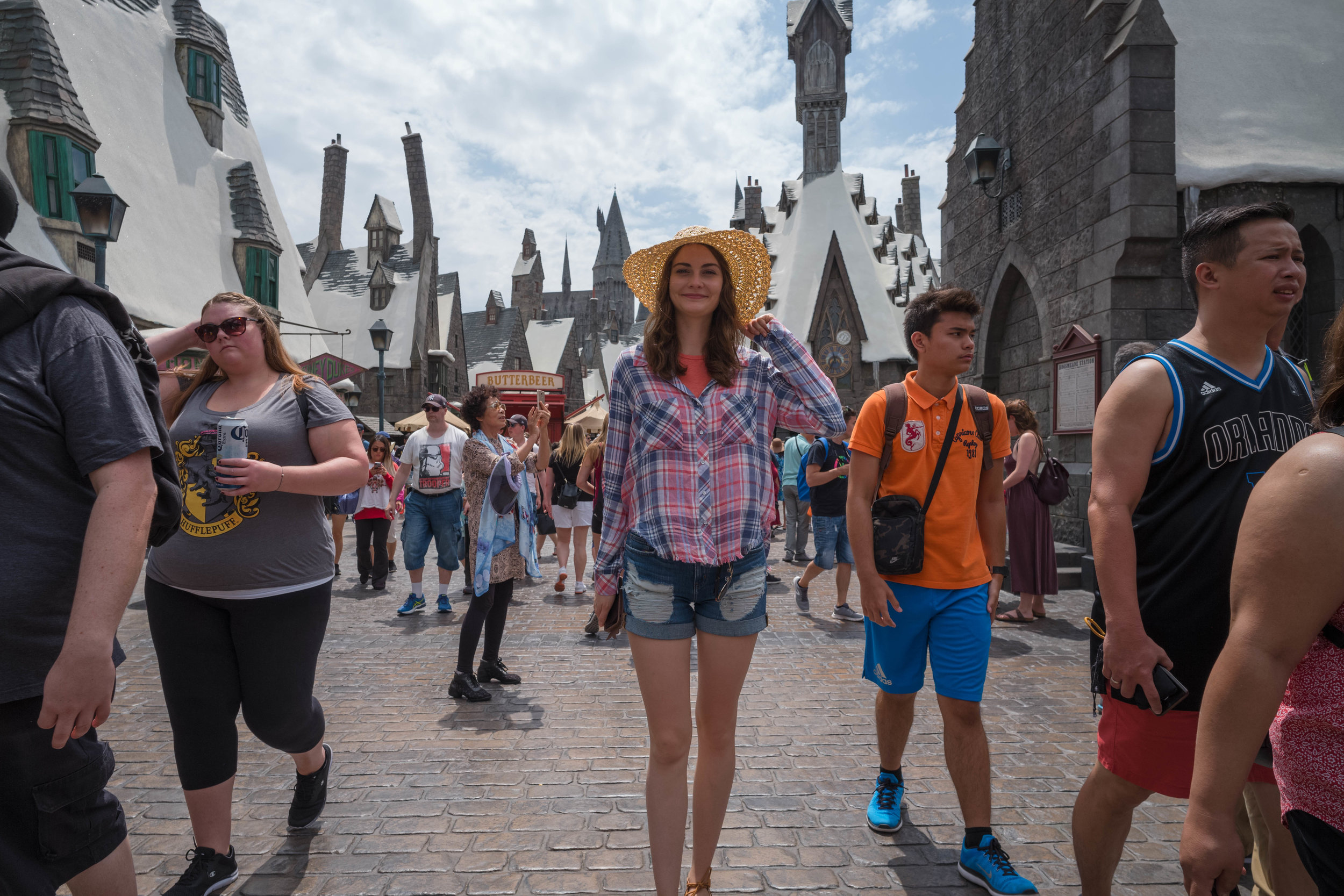 First stop, Harry Potter Land - Waist level shot with live view - Leica 21mm f/3.4 Super Elmar ASPH