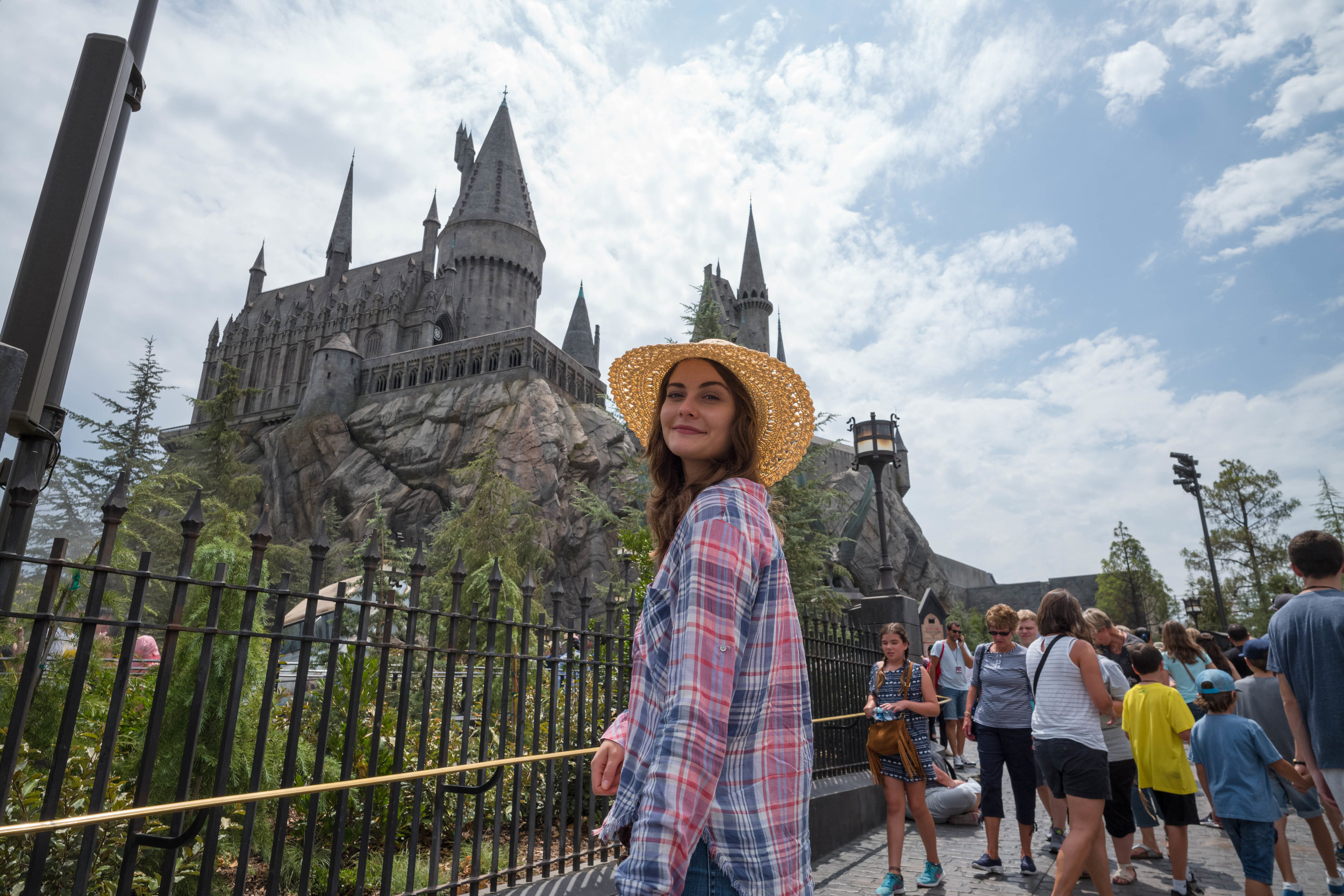 Low angle upward perspective towards Hogwarts - Shot blindly - Leica 21mm f/3.4 Super Elmar ASPH