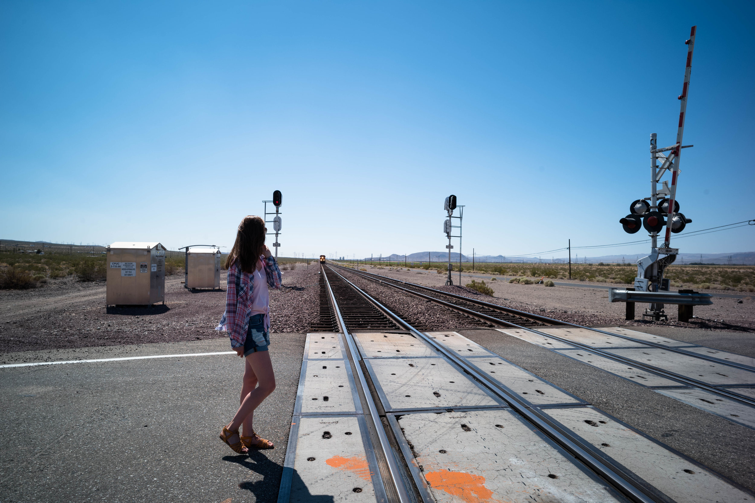 Seeing the approaching train. Notice how far away the train appears, shot with this lens. Leica 21mm f/3.4 Super Elmar ASPH