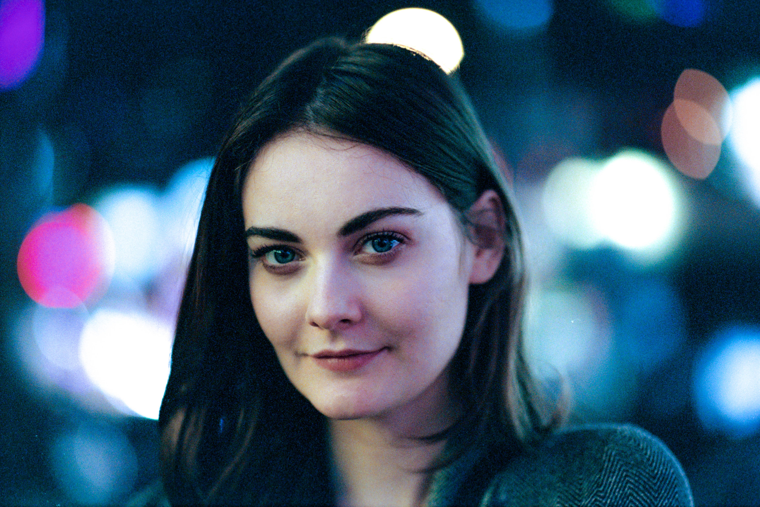 Leica MP-6 + Leica 75mm f/1.25 Noctilux-M ASPH + Fuji Superia Venus 800 - This might possibly be the best example of how this lens renders on film. The eyes and eye lashes are perceptibly sharp, while the surrounding facial features gradually blends out-of-focus.