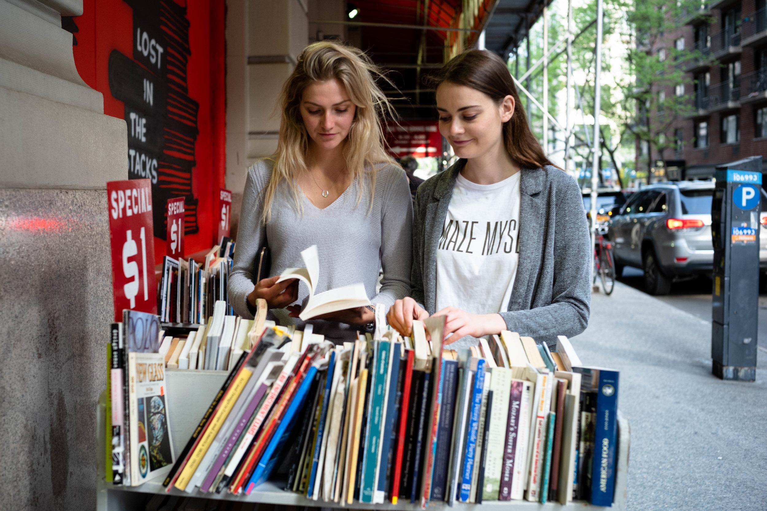Outside Strand Bookstore, near Union Square.