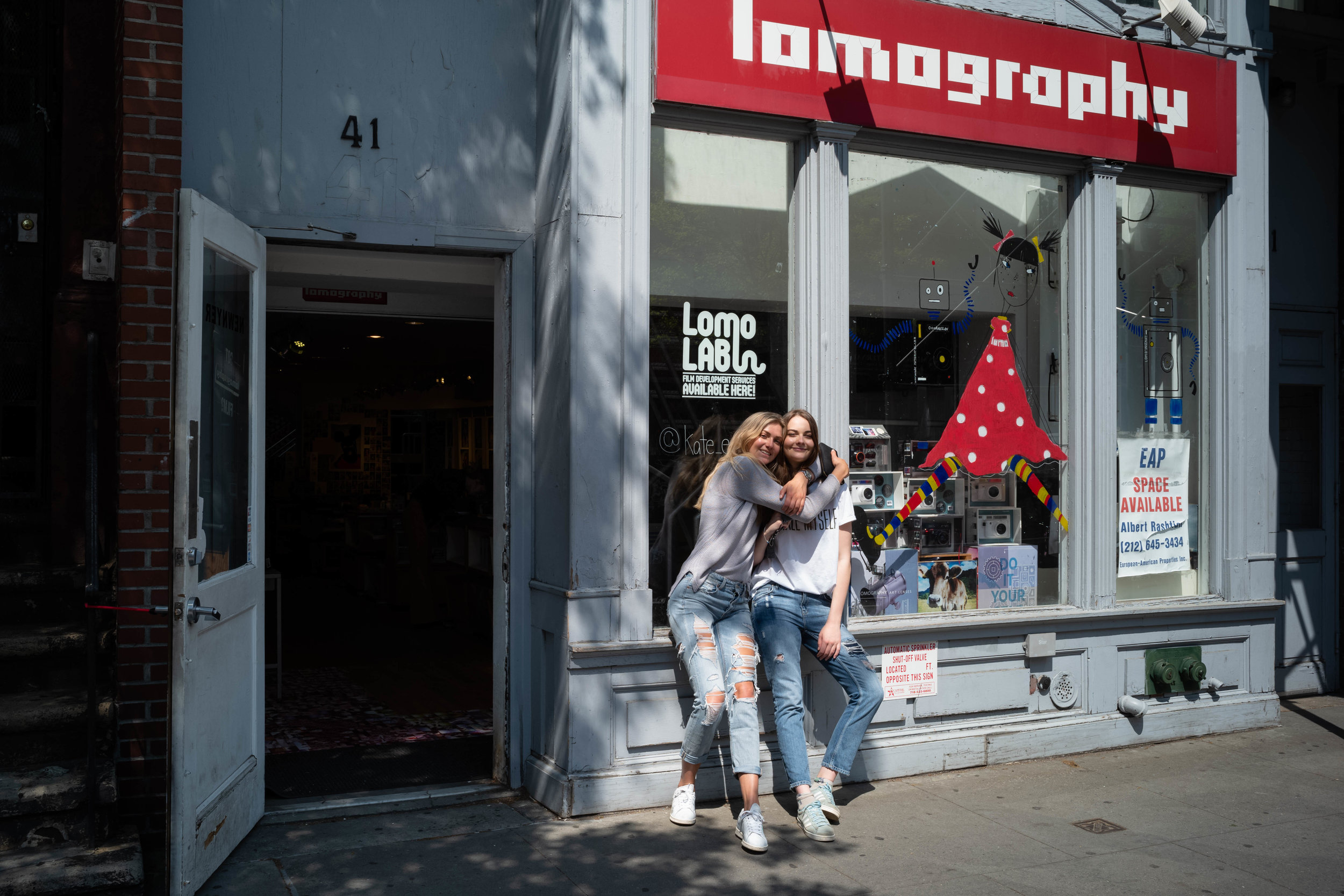 In front of the Lomography Store.