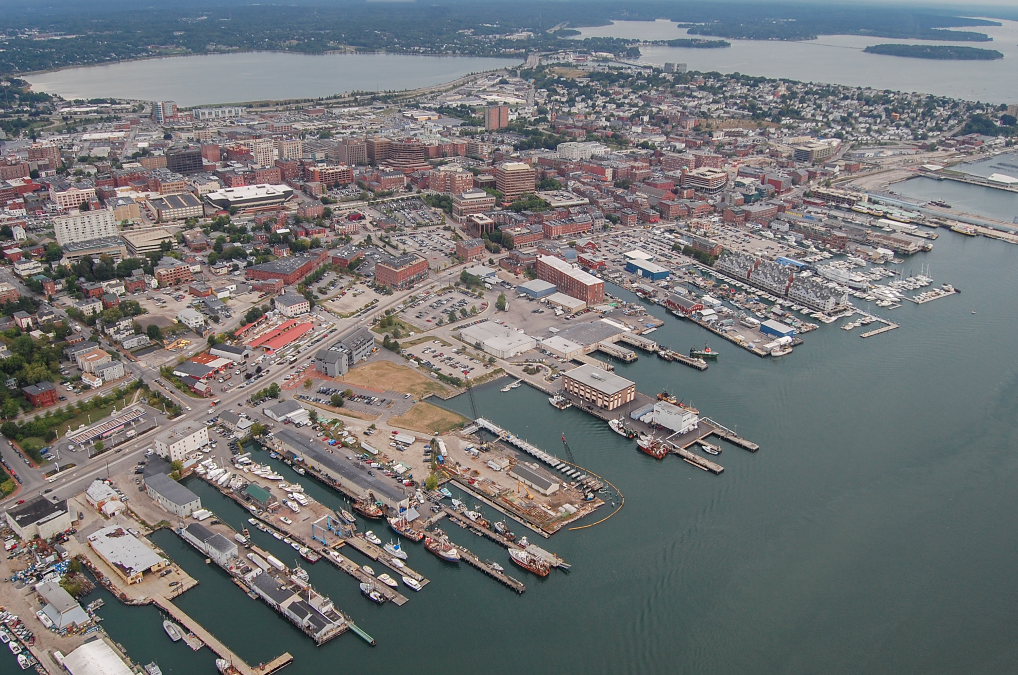 Portland Maine Harbor Downtown