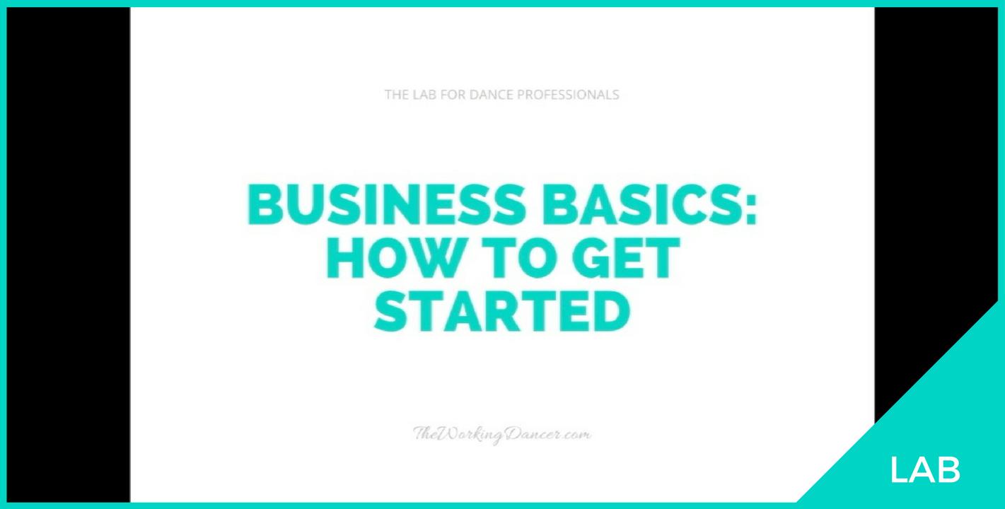 dance business how to get started dancerpreneur Career Tips The Working Dancer.png