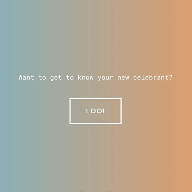 In the spirit of failing fast, I'm telling the social media universe that my website is live before I've had the chance to test, proof, edit or refine. Holla at a girl of you see any funky glitches, bad grammar or wanna get hitched.  www.saltoftheearthcelebrant.com