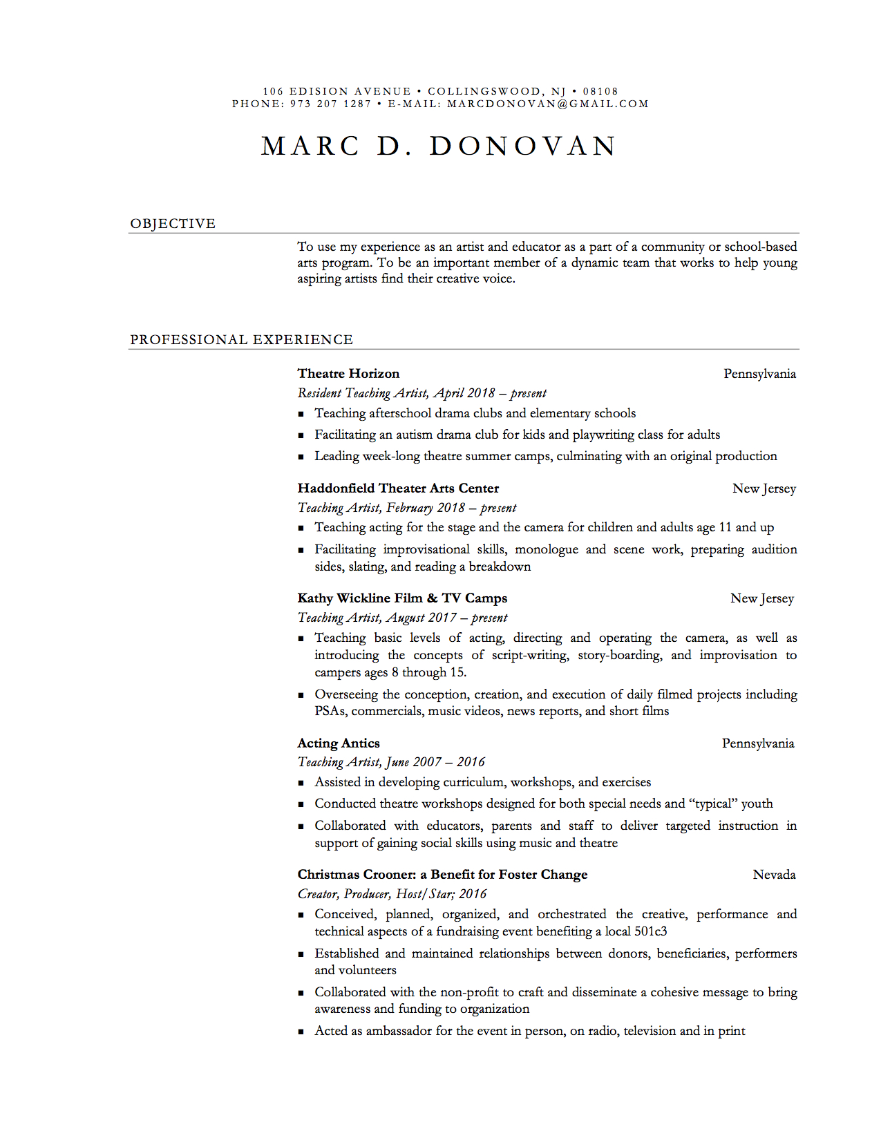 CLICK ON DOCUMENT TO SEE FULL RESUME