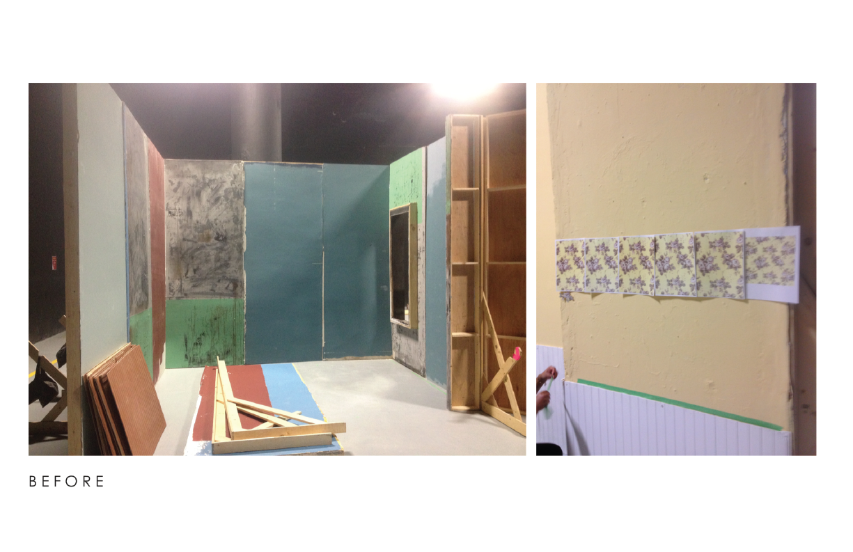 The  before , this is like  35% done , the studio was empty but i did not get a photo of that so...