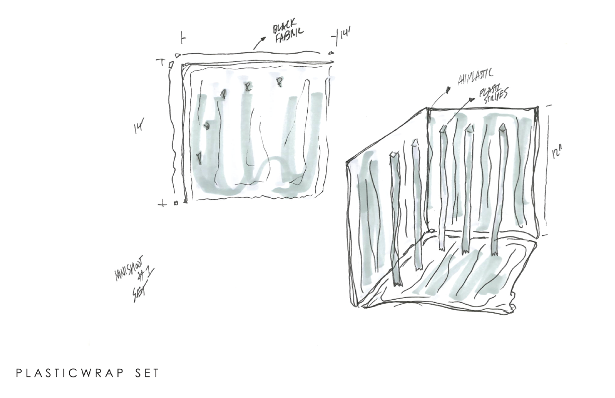 So much plastic used!  early  sketches