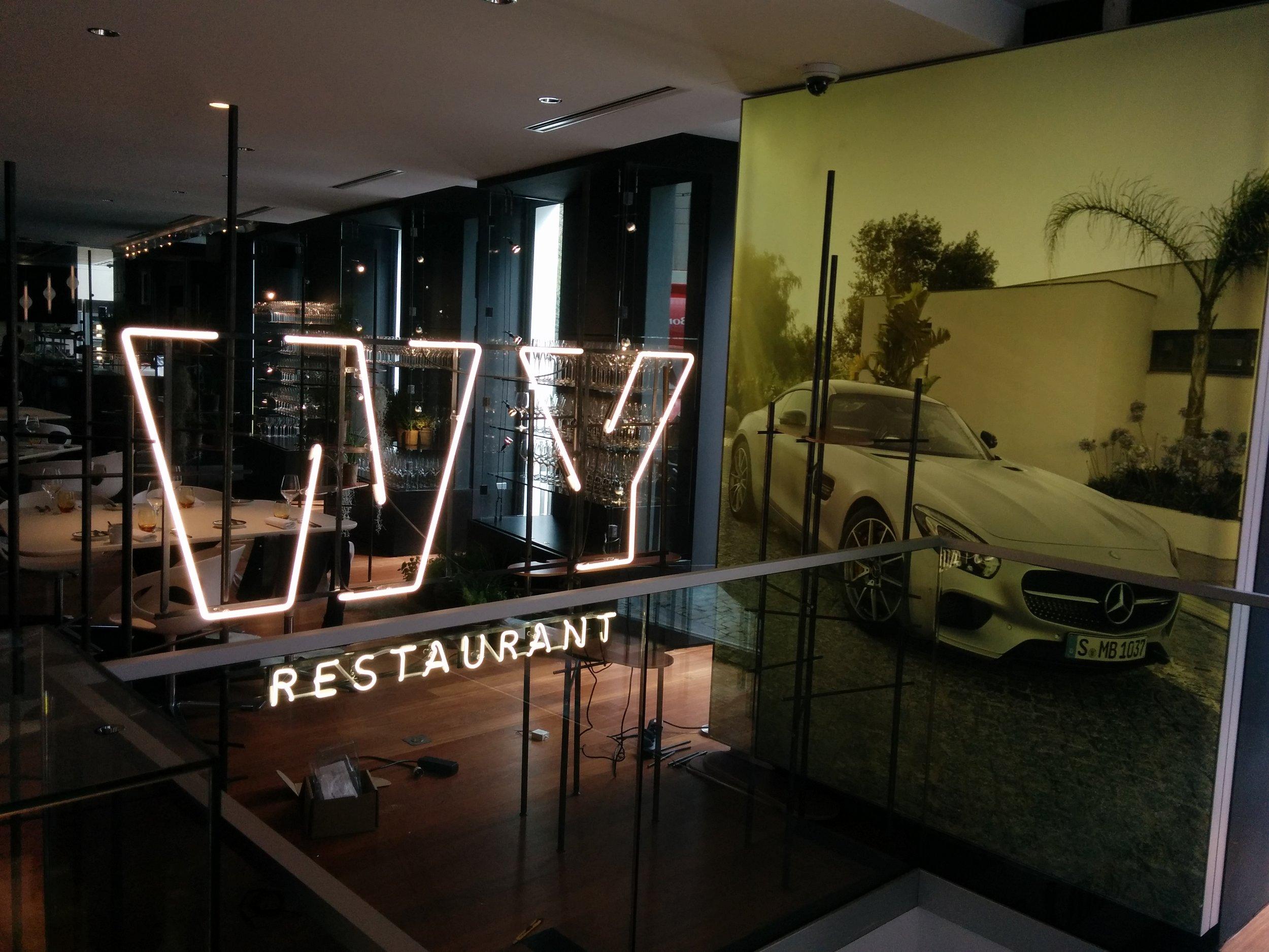 Neonreclame WY Restaurant