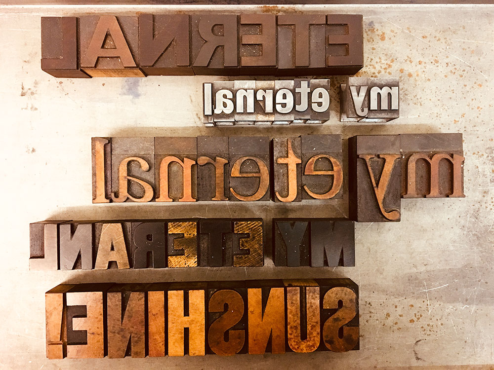 Experimenting with some wood and metal type