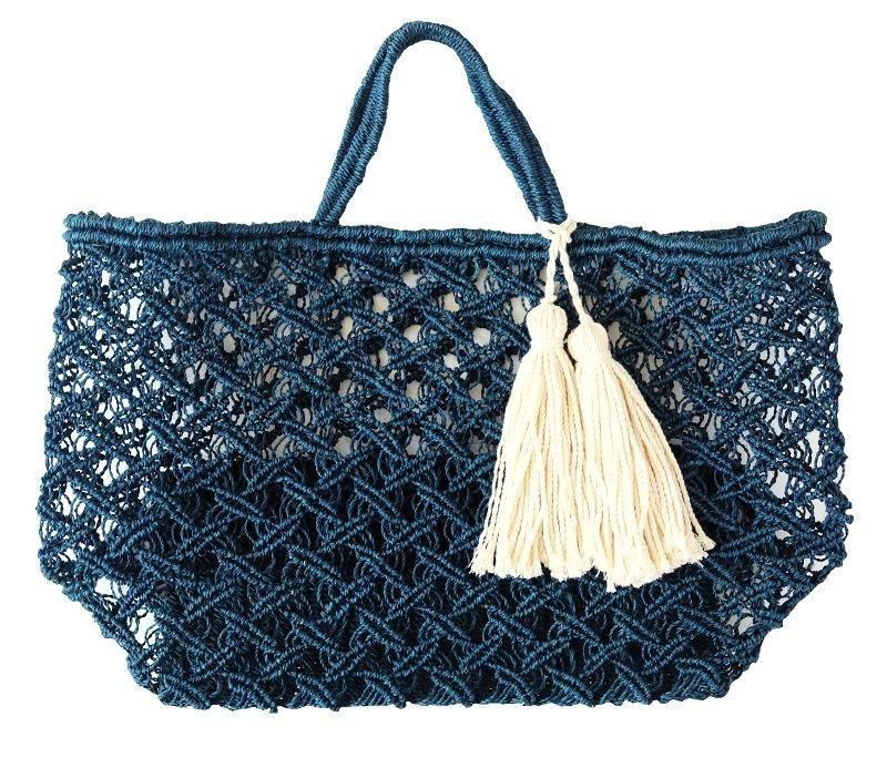 BIG Basket Bag NAVY - Go online store→