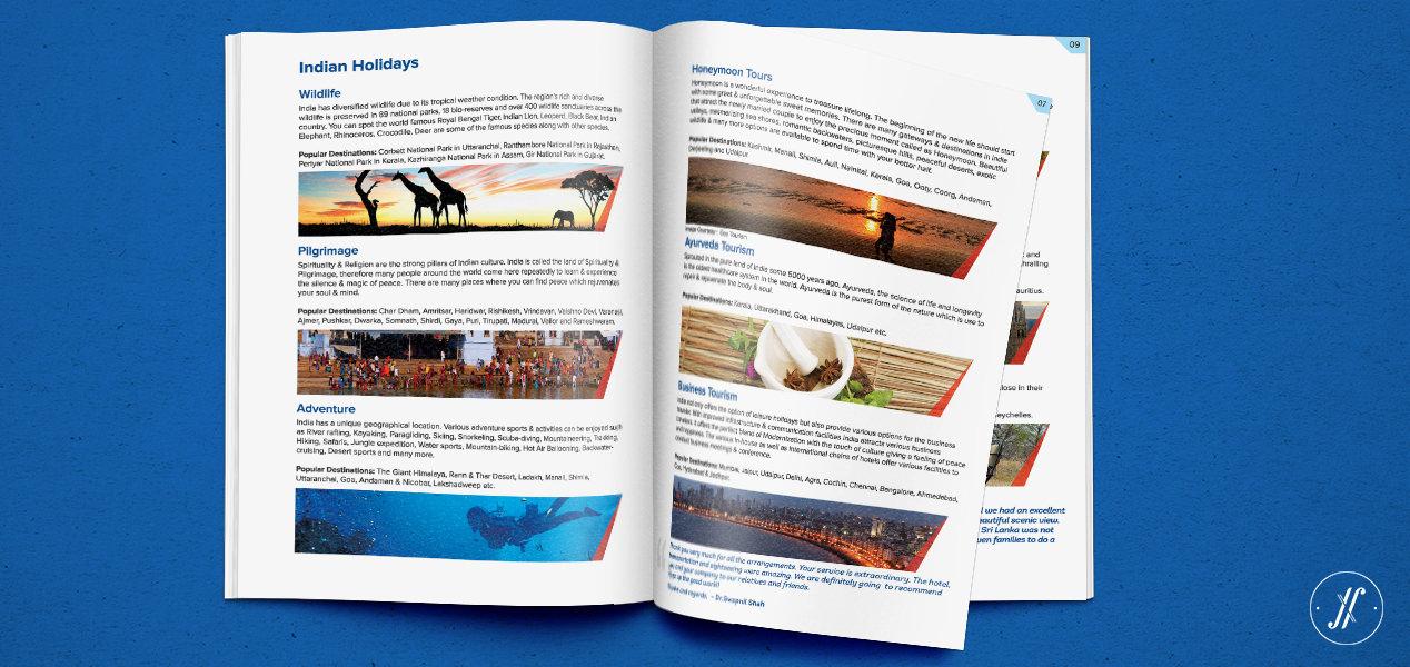 Yellow Fishes Branding Agency Mumbai and Singapore Jetair Tours Brand Communication Design - Managing Brand Identity - Brochure Inner
