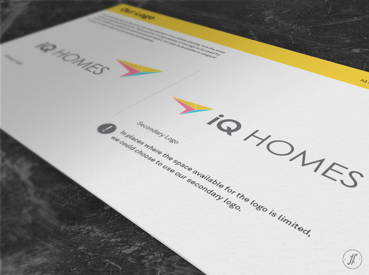 Yellow Fishes Branding Consultancy Mumbai & Singapore Asia Pacific - Branding a Real Estate Company - IQ Homes - Brand Identity Design