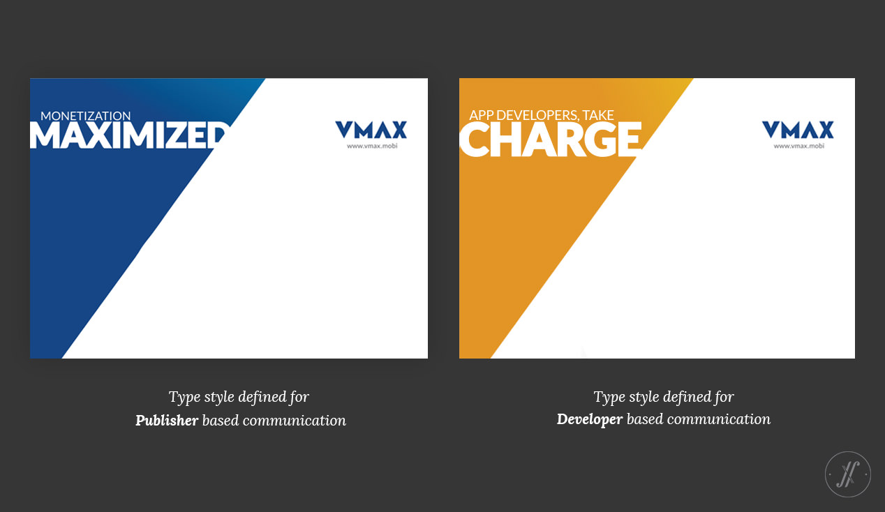 Yellow Fishes Branding Agency In Mumbai & Singapore VMAX Technology Branding Visual Brand Language Design - Typography style