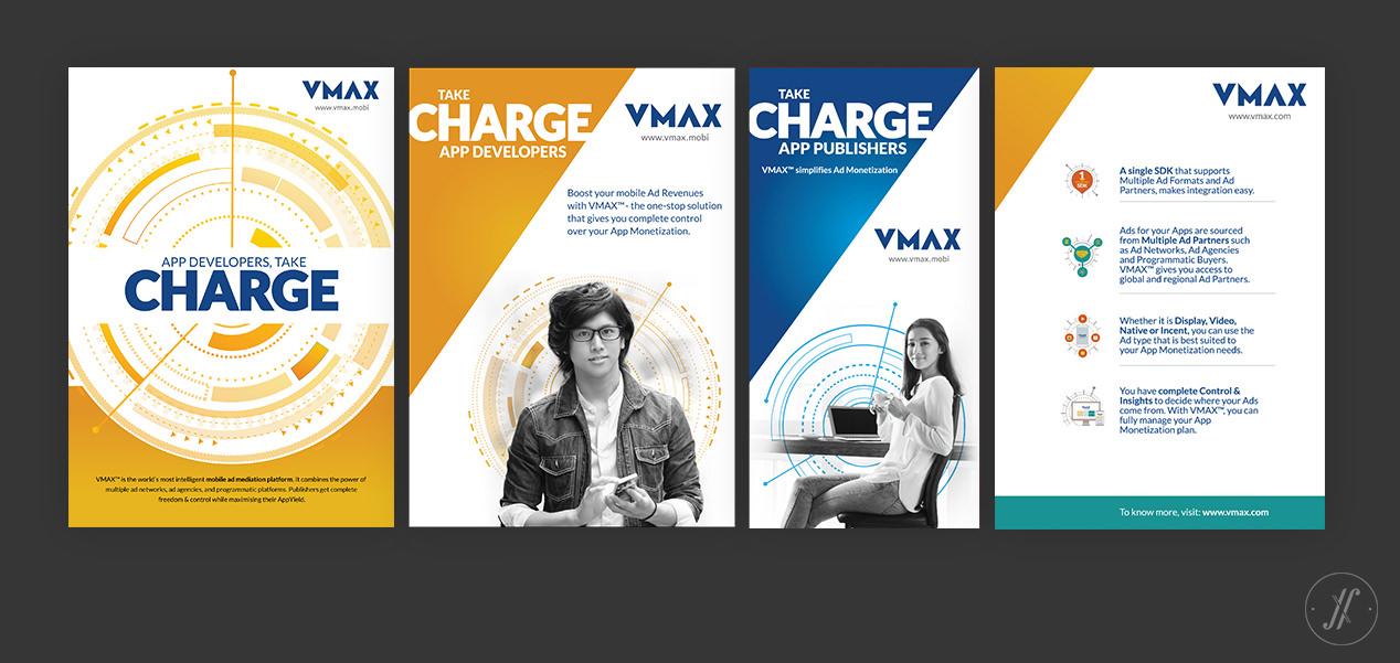 Yellow Fishes Branding Agency In Mumbai & Singapore VMAX Technology Branding Visual Brand Language Design - Brand in sum