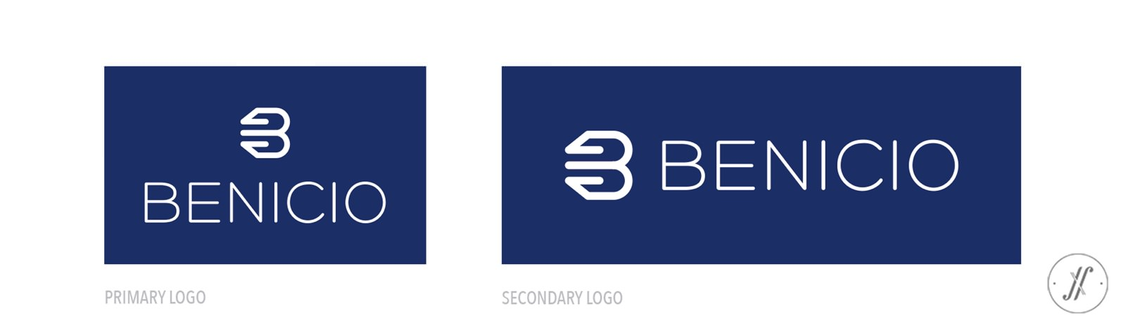 Yellow Fishes YF Branding Agency Mumbai India Menswear Brand Apparel Branding Agency Benicio Brand Logo Design Primary Logo & Secondary Logo Design