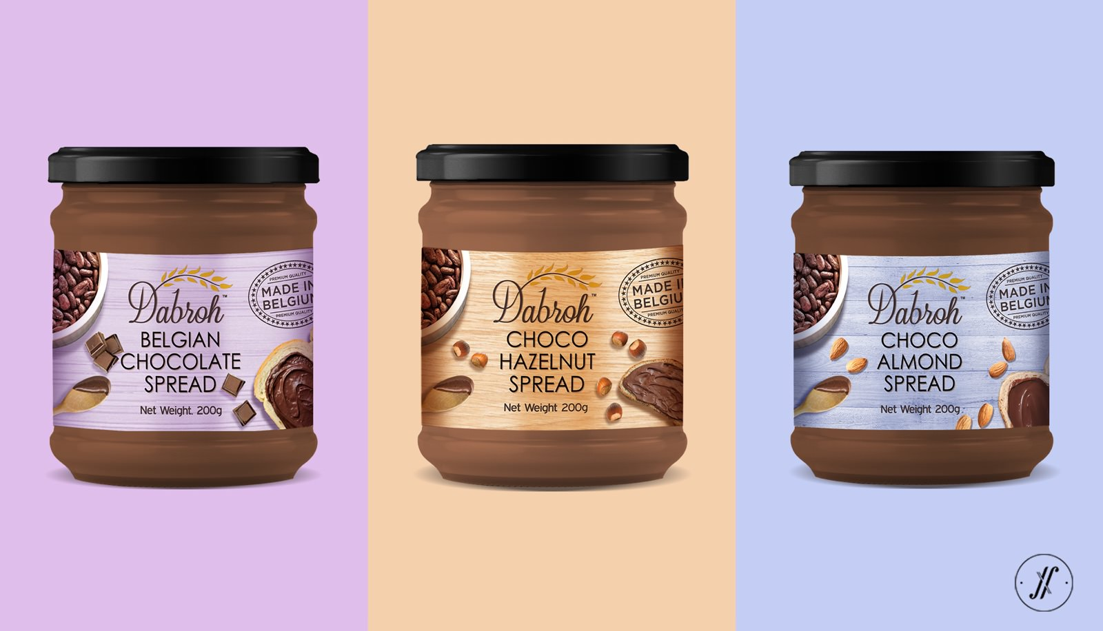 Dabroh-packaging-design-yellow-fishes-branding-agency-Consultancy-design-agency-mumbai-Chocolate-Spreads-best-packaging-design