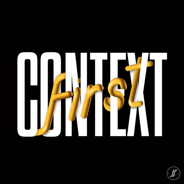 Understanding the #context is the first and most important thing in any marketing strategy.