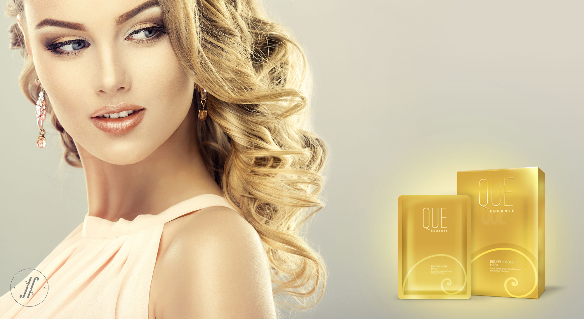 Yellow Fishes Branding Agency Mumbai Que Premium Luxury Cosmetics Branding London British Branding Skin care Golden Spiral Fibonacci Spiral giel cosmetcis ad poster design.jpeg