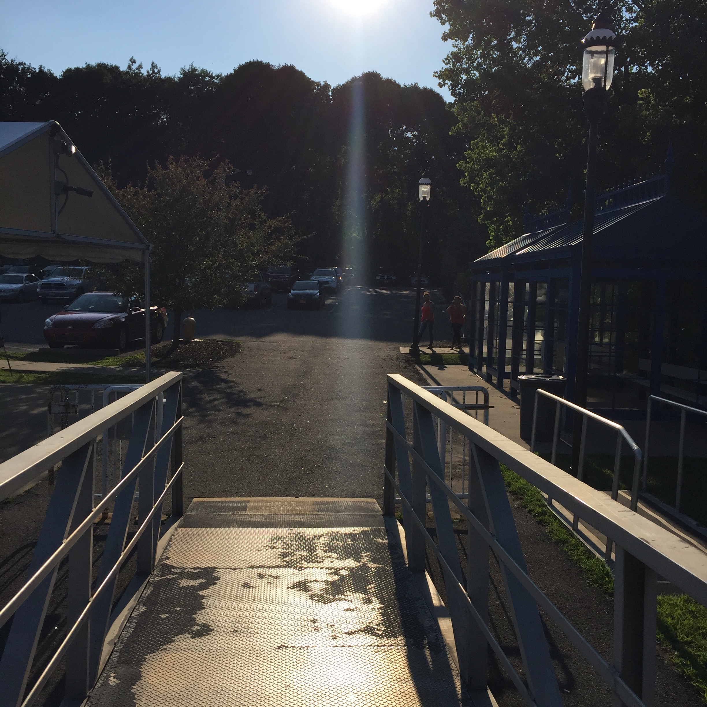 The boarding dock on the Newburgh side. Photo Credit: Katie Hellmuth Martin