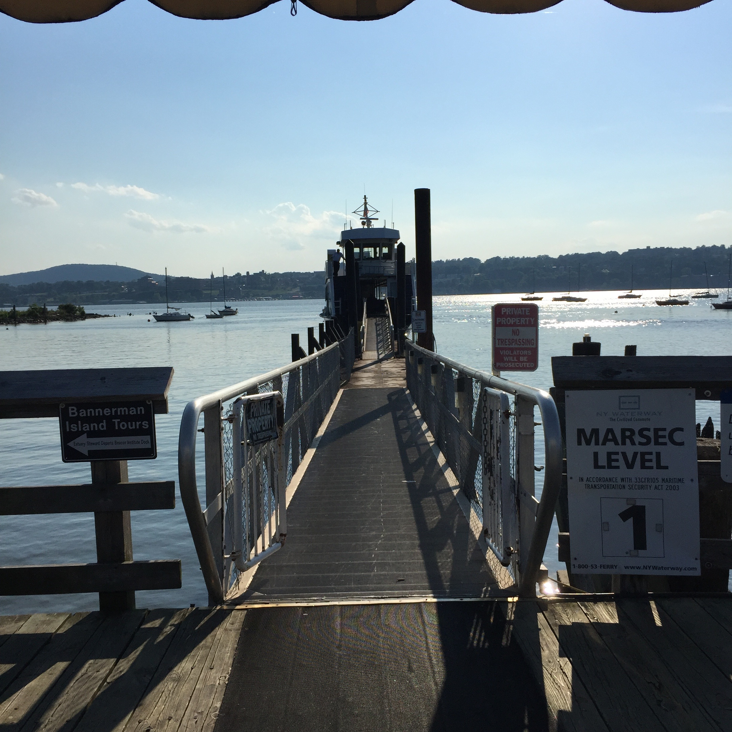 The boarding dock today near Long Dock on the Beacon side. Photo Credit: Katie Hellmuth Martin