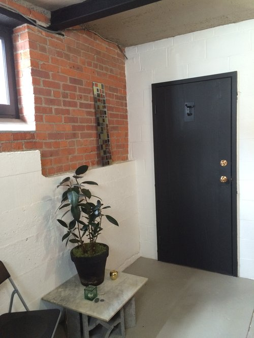 The closed door of your office, from the inside.