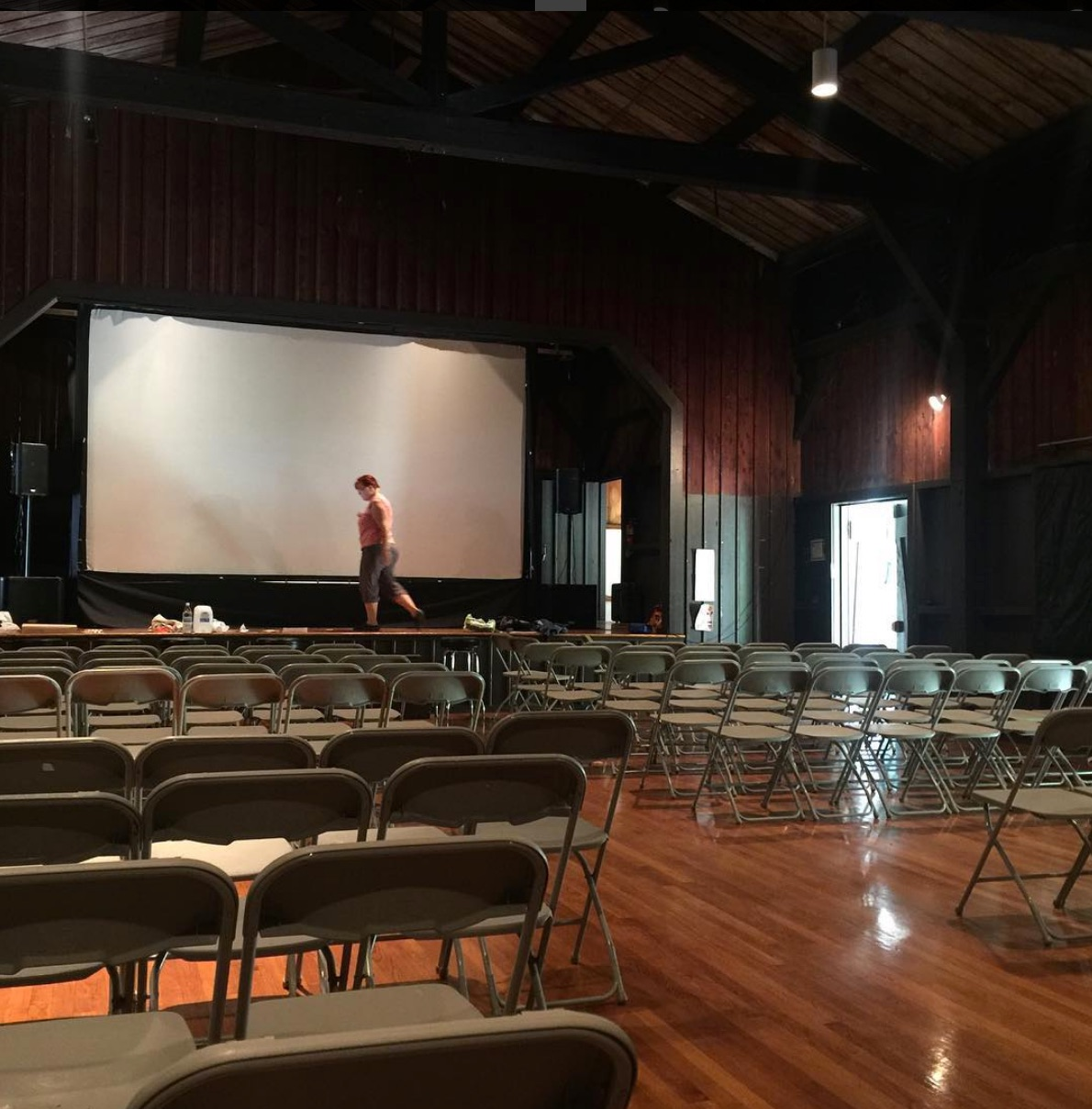 Screen up! Photo Credit: Beacon Independent Film Festival
