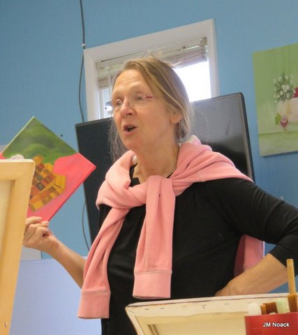Jan Dolan, the teacher of the Beacon Thursday Painters Group. Photo Credit: Jean Noack