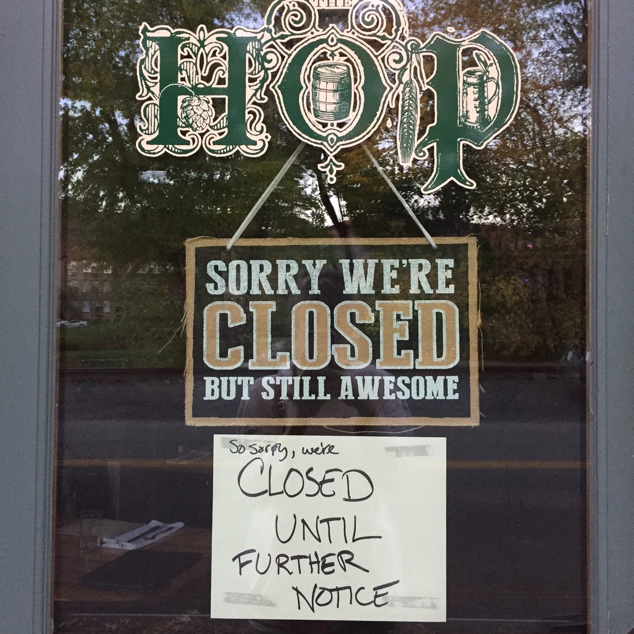 Confirmation is always required at the physical storefront. Still, the verbiage used indicates a notice to come in the future about it not being closed.