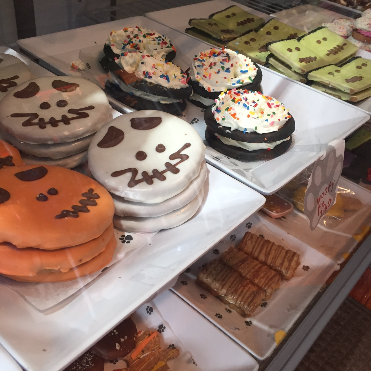 Dog treat cookies, decorated for the season, are in the Beacon Barkery.