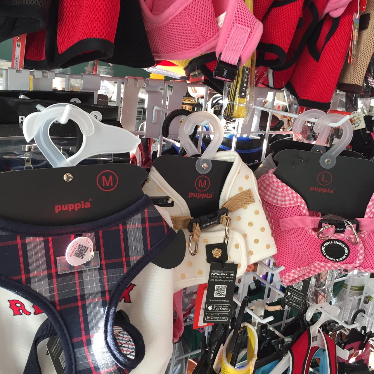 The Puppia Harnesses That First Attracted Donald to the Beacon Barkery.