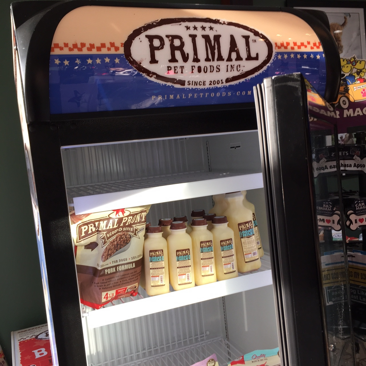 The new Primal refrigerator for a larger raw food selection.