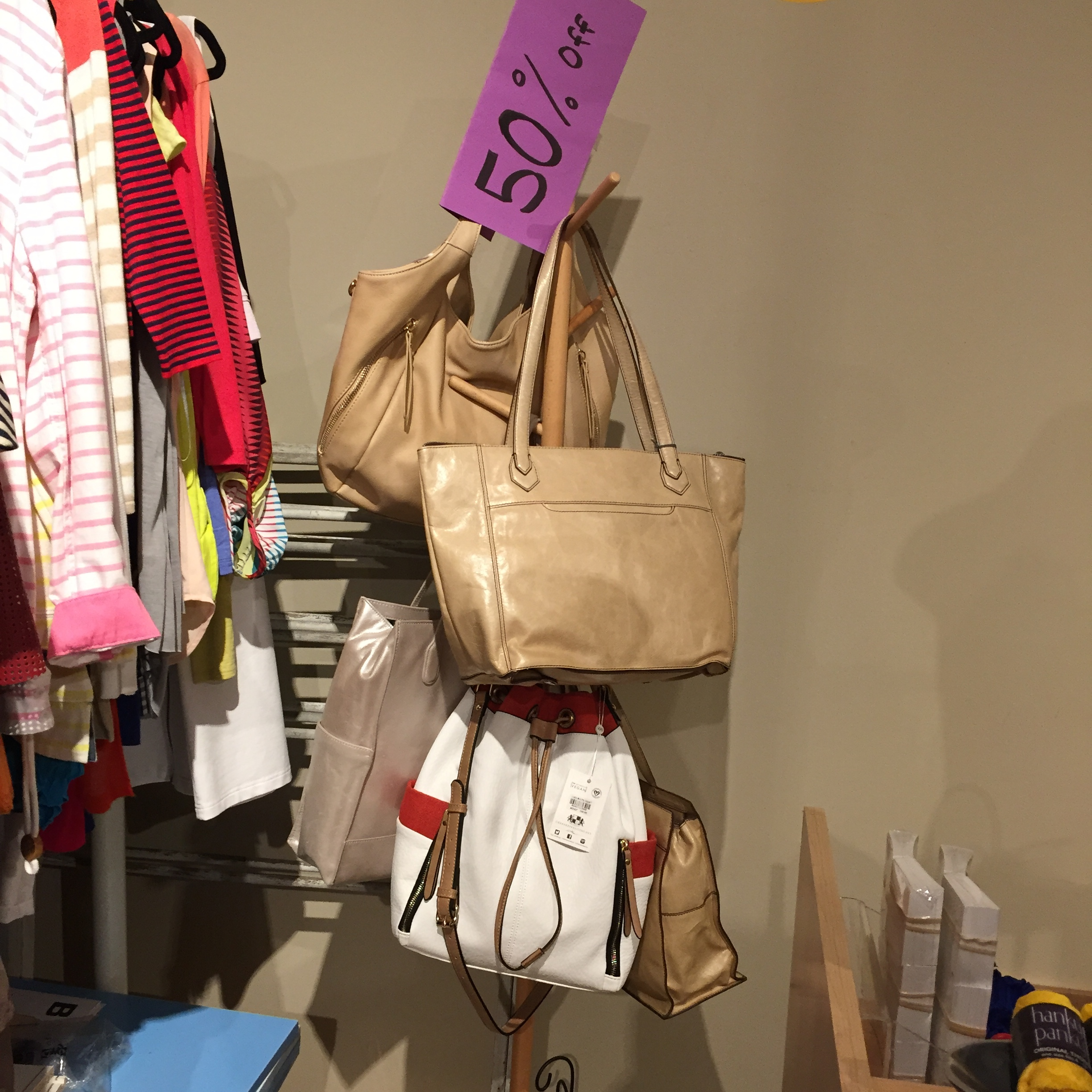 Purses and accessories on sale at Echo