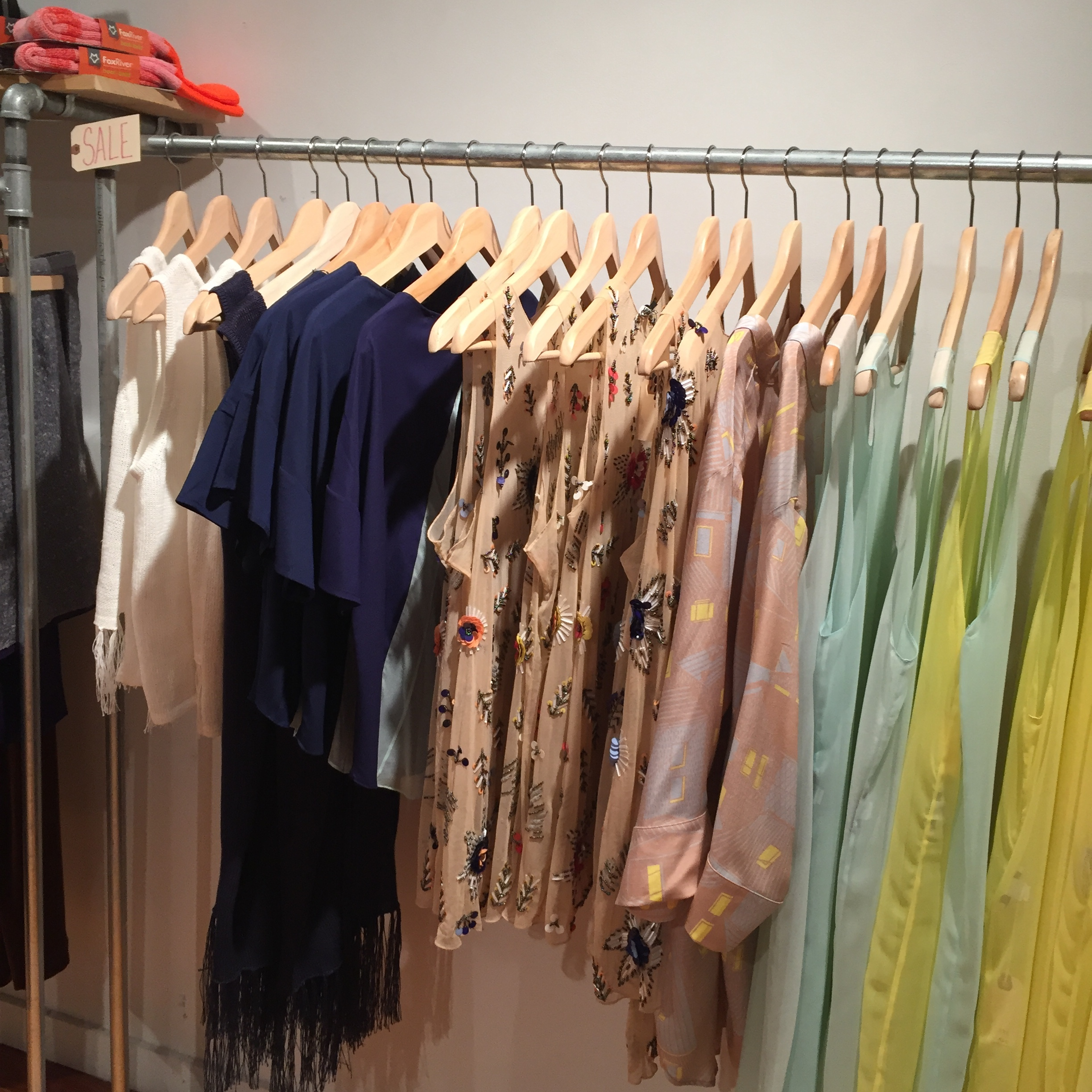 Sale rack at Reservoir and Wood