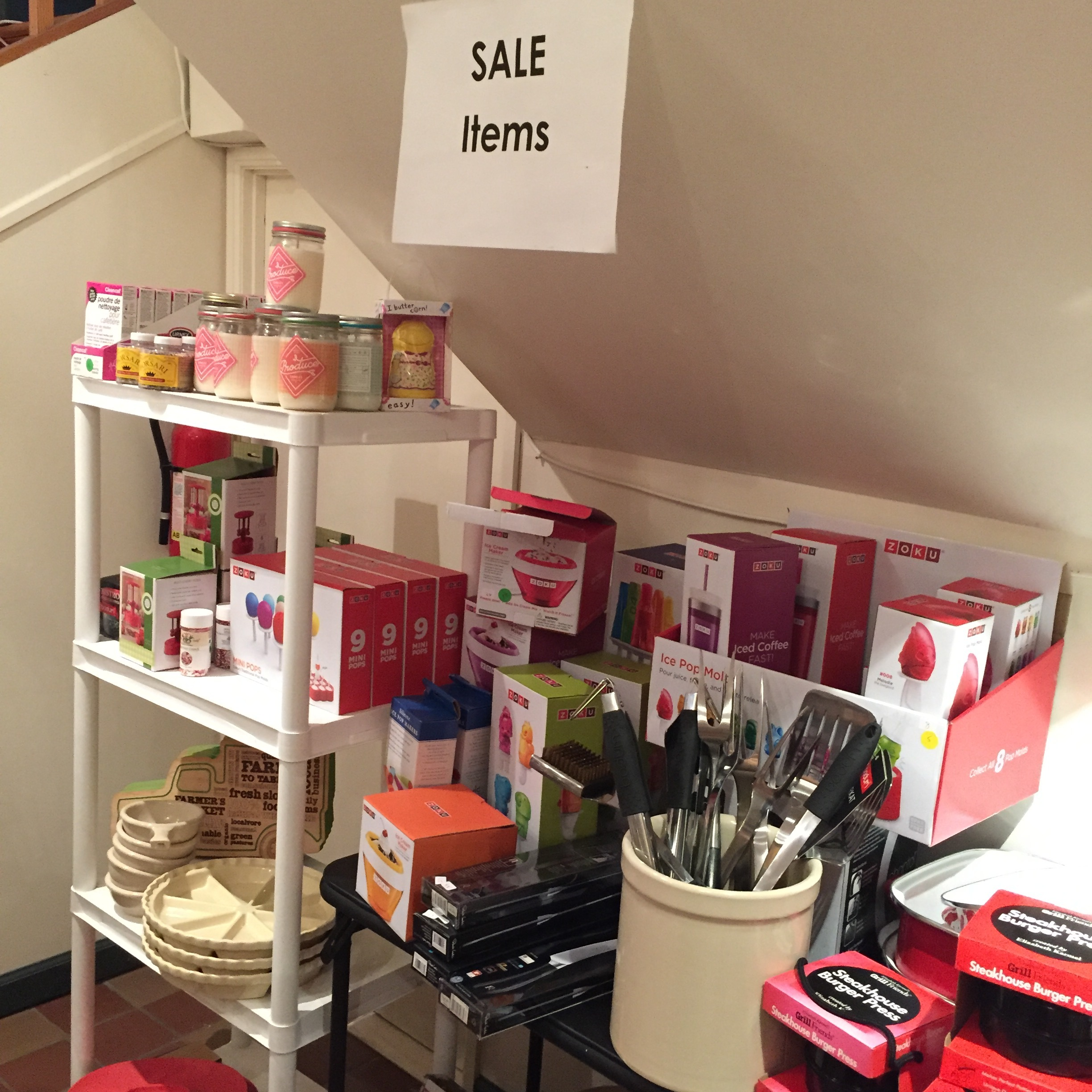 Clearance area at Utensil