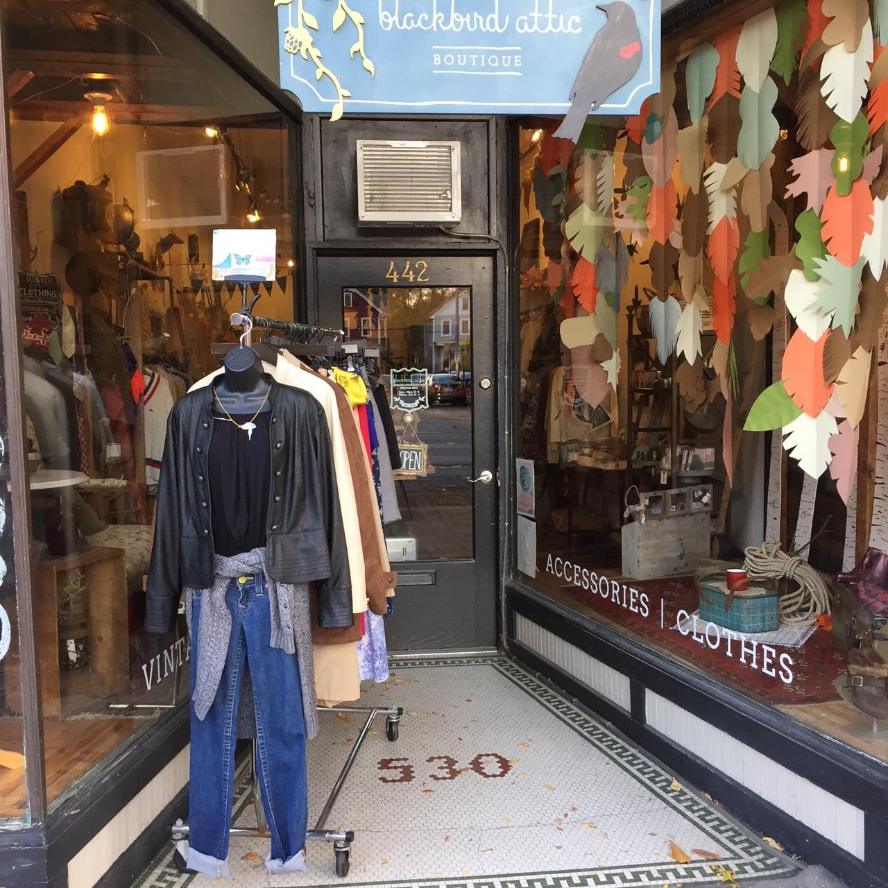 Sale rack at Blackbird Attic