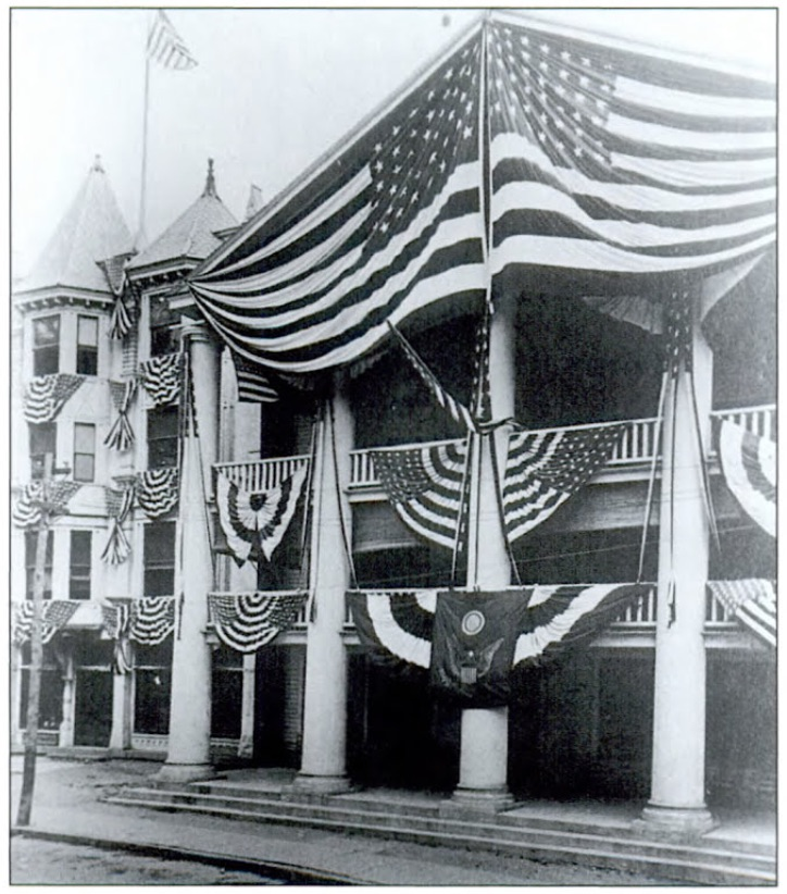 The Hotel in 1877, when owned by Warren S. Dibble. Photo Credit:  The Beacon Historical Society