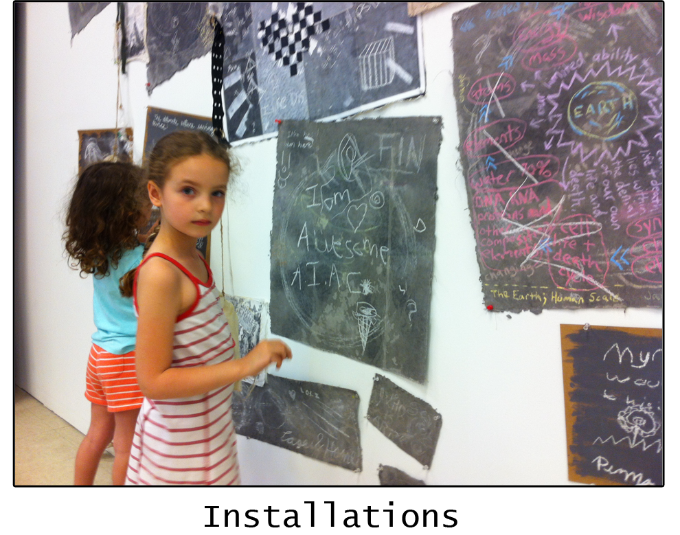Children participating in past installations. Photo Credit: Zachary Skinner