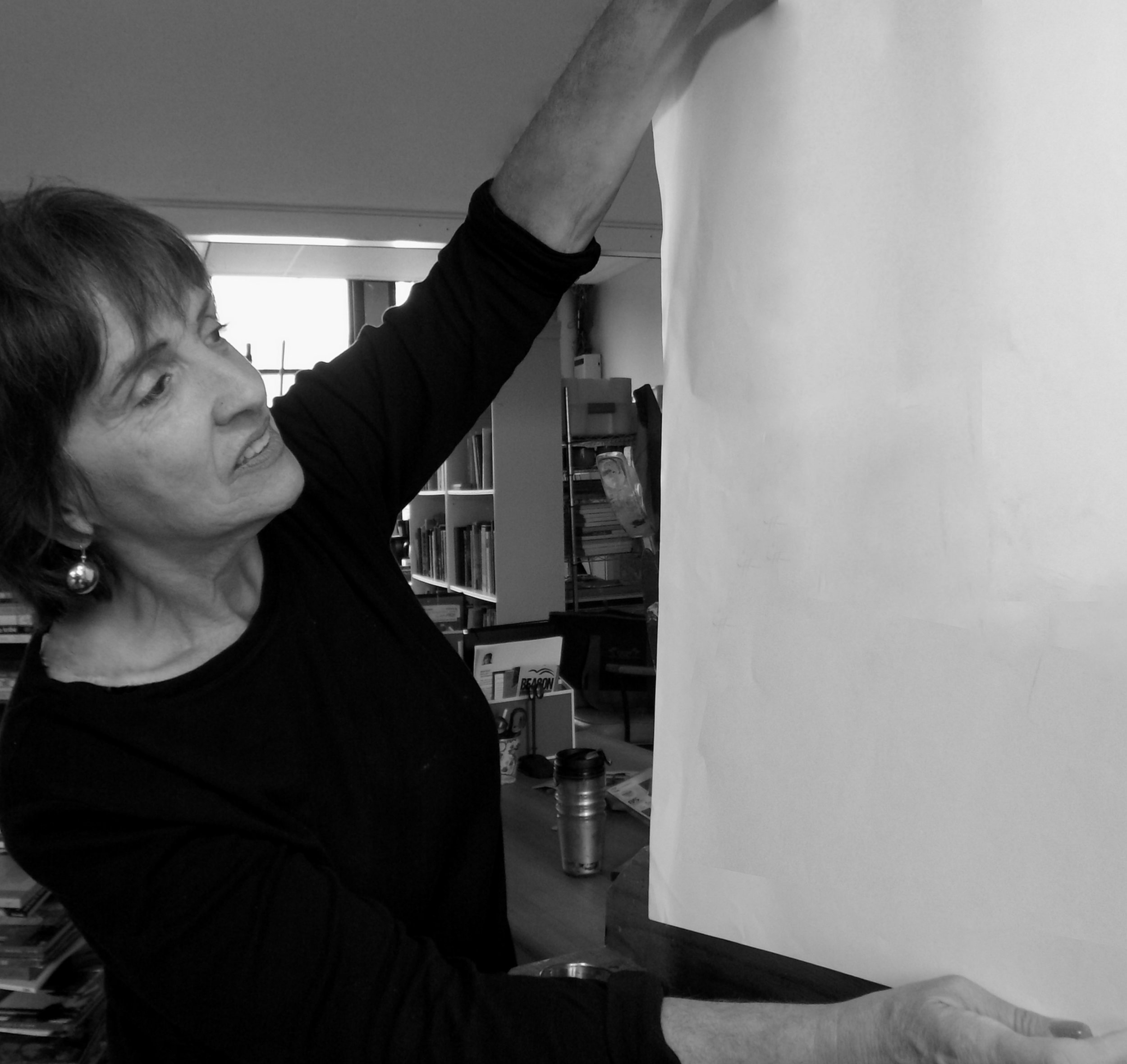 Owner and artist Maria Amor in The Atelier Room 205. Call or email her to book: (646) 705-3833 AtelierRoom205@gmail.com