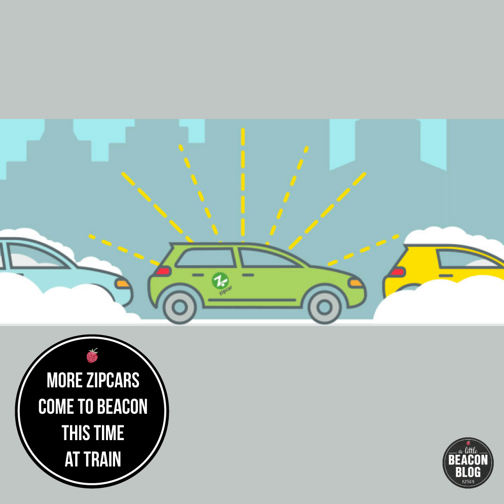 Two more ZipCars have arrived in Beacon. Find them parked at the Metro-North Train Station. illustration Credit: ZipCar, from their home page.