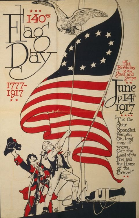 Poster commemorating the 140th Flag Day on June 14, 1917. Photo Credit: Wikipedia Page for Flag Day.