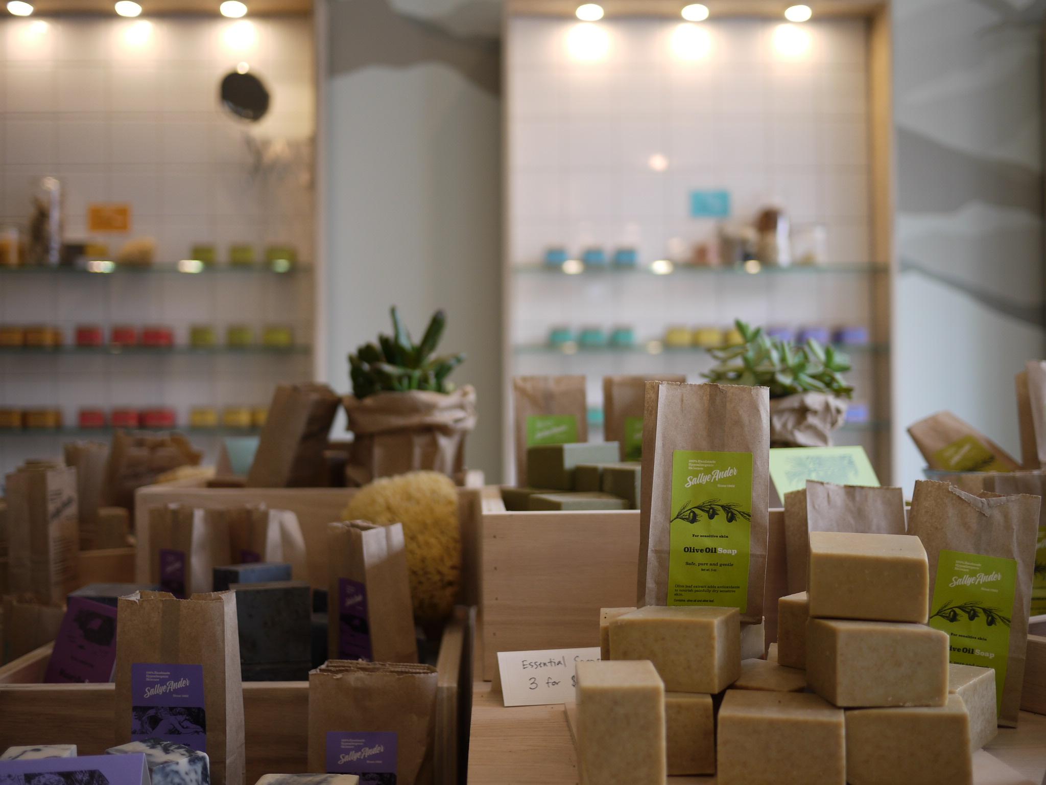 Inside of SallyeAnder's new flagship location. Photo Credit: Leigh Baumann for A Little Beacon Blog