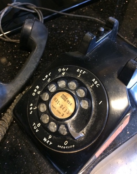 An original telephone in the Hudson Valley with the familiar 914-831 digits.  Photo Credit: Beacon Historical Society