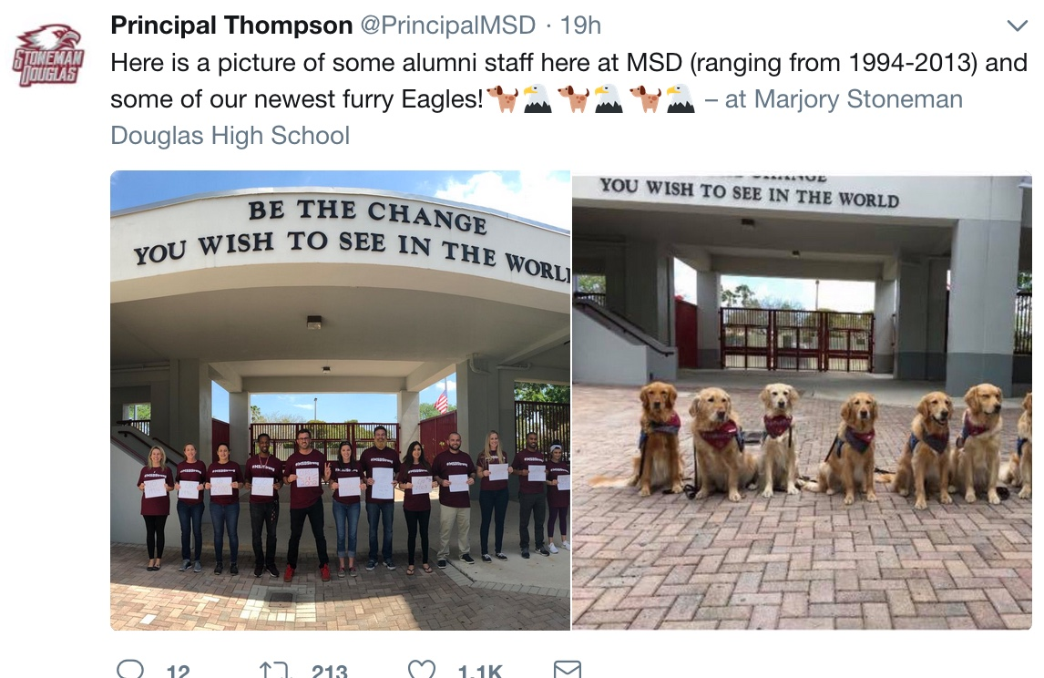 Photo Credit: Screenshot from Principal Thompson's  Twitter.