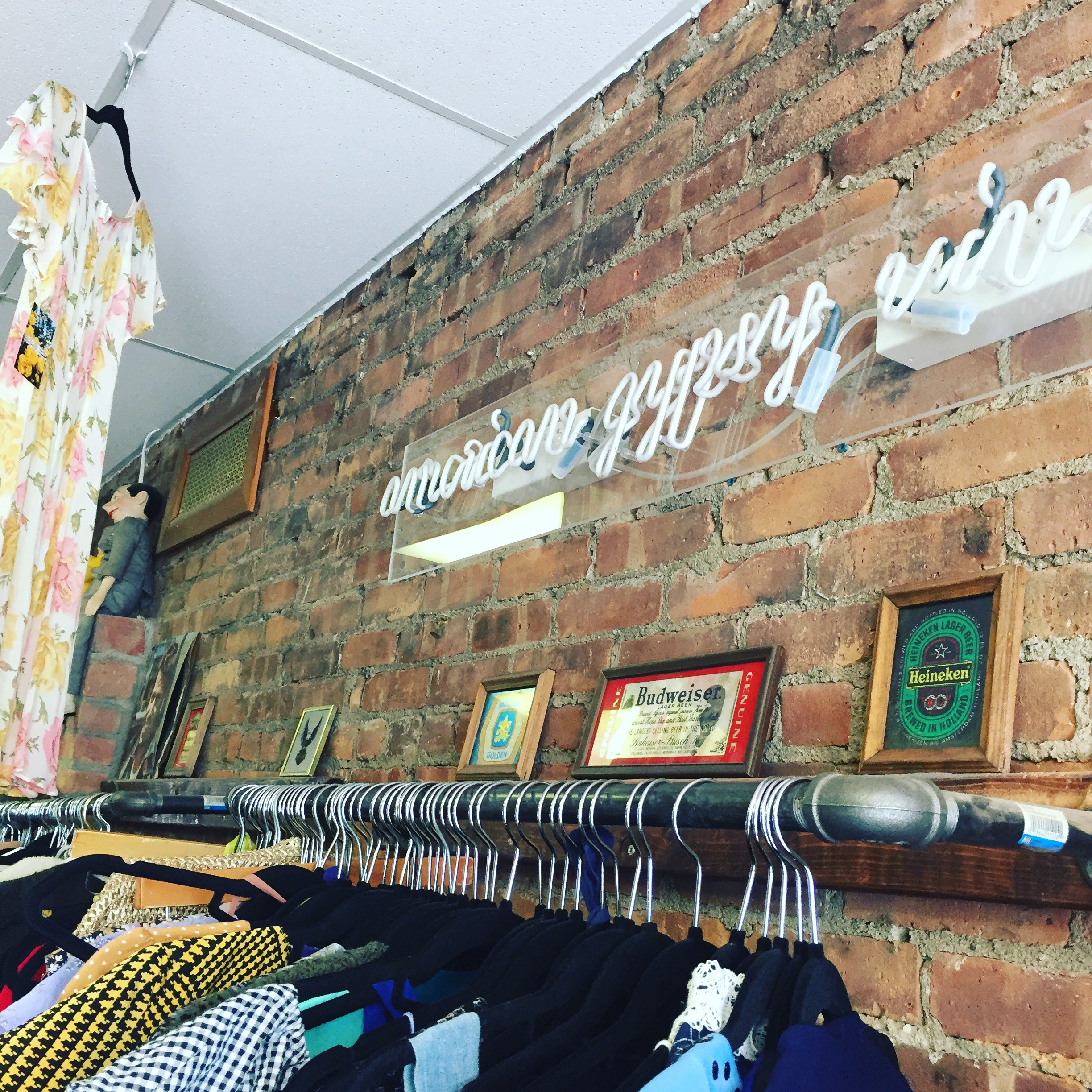 We Shopped at American Gypsy Vintage on the way down to the Cupcake Festival, while waiting for a takeout chicken wrap from Ziatun.  Photo Credit: Katie Hellmuth Martin