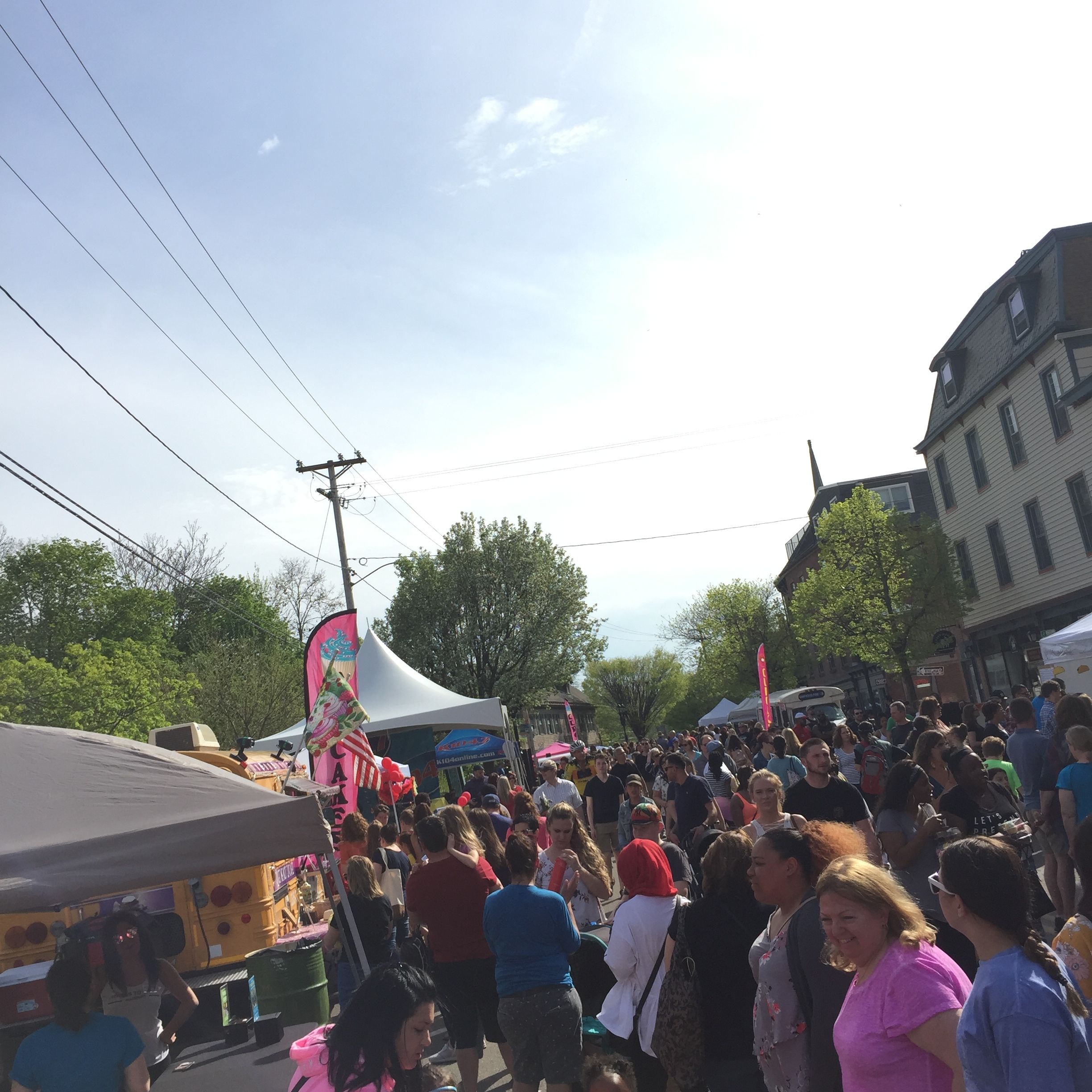 Streets were packed on Beacon's east end of town for the Cupcake Festival 2018.  Photo Credit: Katie Hellmuth Martin