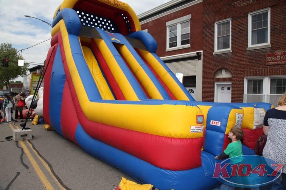 Kids bouncy houst at Cupcake Festival