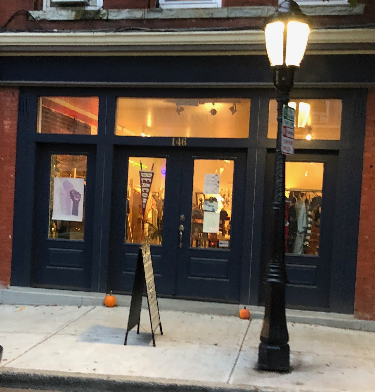Colorant, now located at 146 Main Street started out inside of Beacon Healing Massage as a pop-up shop, turned perma-pop-up shop, and now has a permanent home across the street in the space formerly occupied by Miss Vickie's Music.  Photo Credit: Katie Hellmuth Martin